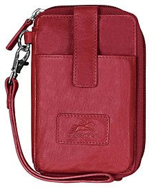Casablanca Collection RFID Secure Cell Phone Wallet