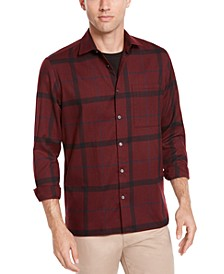 Men's Classic-Fit Brushed Plaid Shirt, Created For Macy's