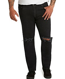 MVP Collections Men's Big & Tall Athletic-Fit Slit Knee Stretch Jeans