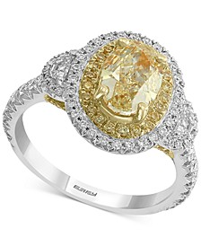 EFFY® HEMATIAN Diamond Halo Ring (2-3/8 ct. t.w.) in 18k Gold & White Gold