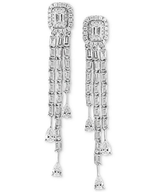 EFFY Collection EFFY® HEMATIAN Diamond Dangle Drop Earrings (2-1/10 ct. t.w.) in 18k White Gold