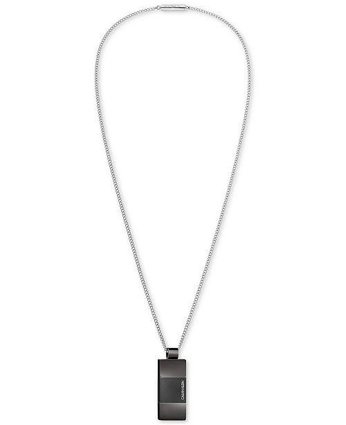 Calvin Klein Men's Strong Stainless Steel PVD Bi-Color Pendant Necklace