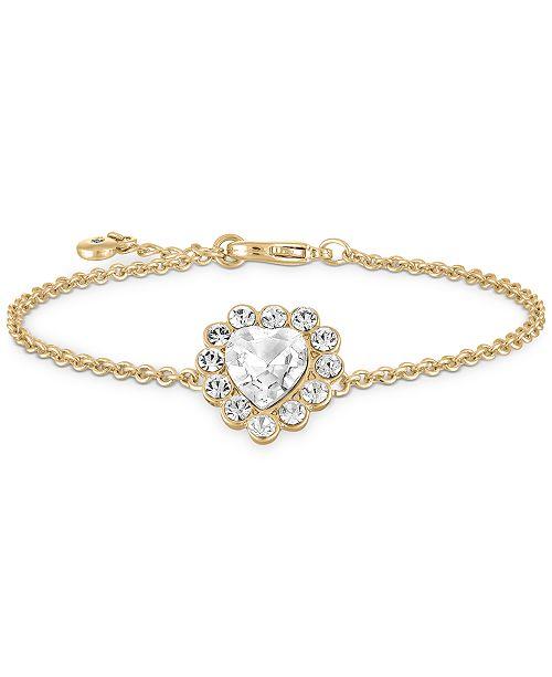 RACHEL Rachel Roy Gold-Tone Crystal Heart Flex Bracelet