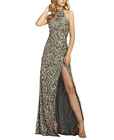 Halter Sequin Gown