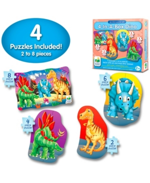 The Learning Journey My First Puzzle Sets 4 in a Box Puzzles- Dino - Dinosaur Toy