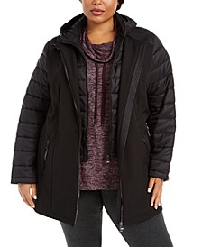 Mixed-Media Puffer Jacket