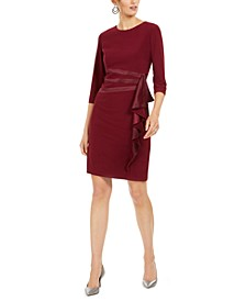 Ruffled Sheath Dress