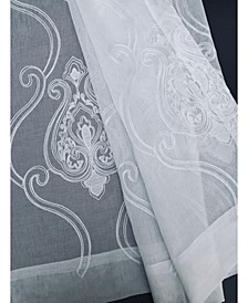 Ella Embroidered Sheer Rod Pocket Curtain Collection