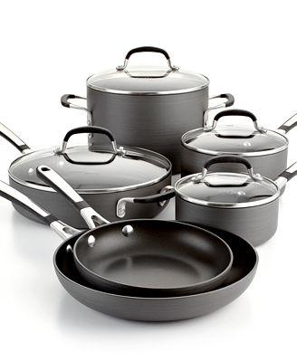 closeout! simply calphalon nonstick 10-pc. cookware set - cookware