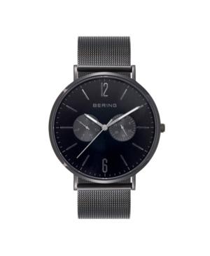 Bering Men's Multi-Function Black Stainless Steel Mesh Bracelet Watch 40mm