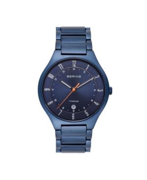 Bering Men's Blue Titanium Bracelet Watch 39mm