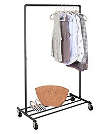 Home Solution Piple Rolling Garment Rack
