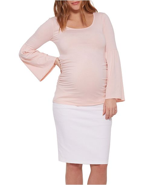 Stowaway Collection Maternity Stowaway Collection Bell Sleeve Maternity Top