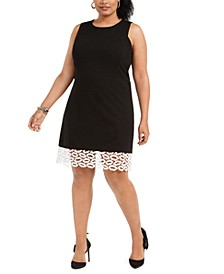 Plus Size Lip-Lace Sheath Dress