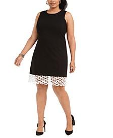 Plus Size Lip-Lace Sheath Dress