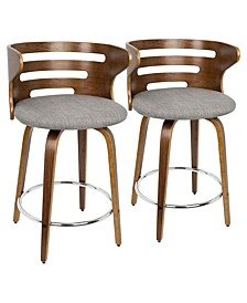 "Cosini 24"" Counter Stool, Set of 2"