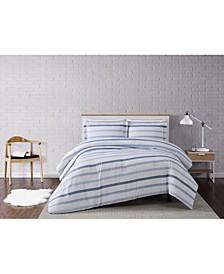 Waffle Stripe 3-Piece Comforter Set - Full/Queen