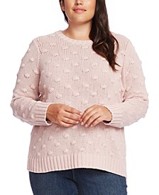 Plus Size Crewneck Popcorn Sweater
