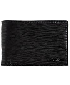 Men's Textured Leather Slimfold Wallet