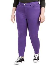 Trendy Plus Size Colored Skinny Jeans