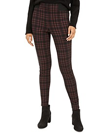 Pull-On Plaid Leggings
