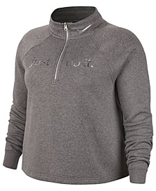 Plus Size Sportswear Shine 1/2-Zip Fleece Top