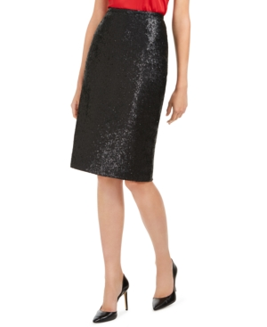 Calvin Klein Skirts SEQUINED PENCIL SKIRT