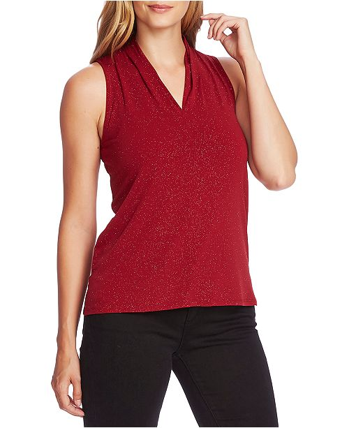 Vince Camuto Pleated-Shoulder Tank Top