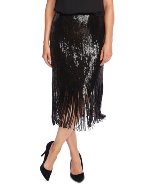 Vince Camuto Skirts SEQUINED FRINGED SKIRT
