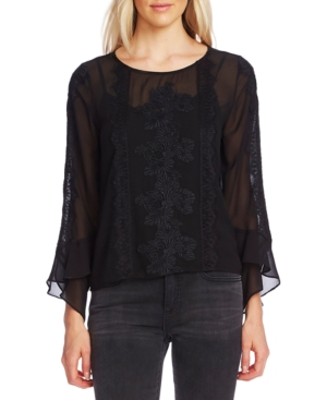 Vince Camuto Tops LACE FLUTTER-SLEEVE TOP