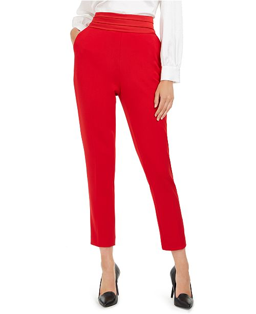 Calvin Klein Pleated-Waist Slim-Fit Dress Pants