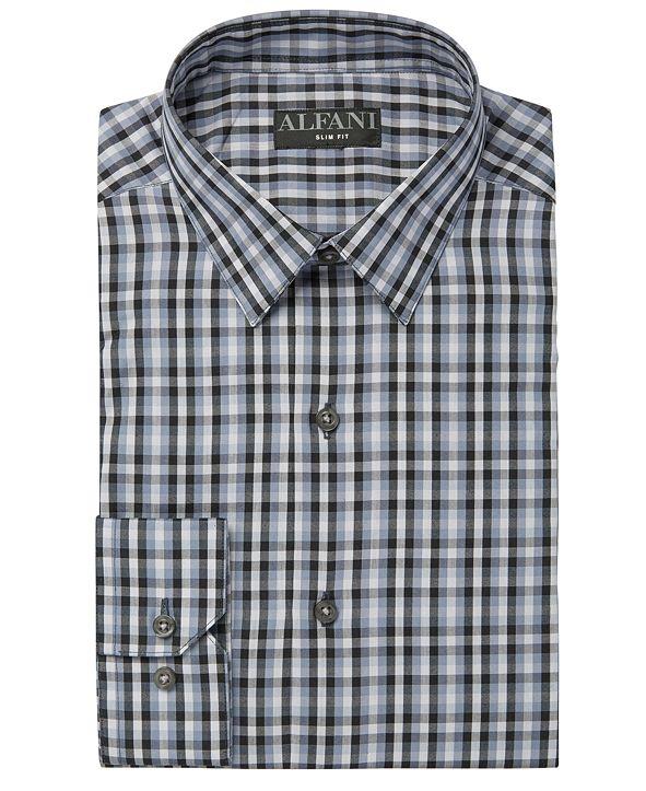 Alfani Alfani Men's AlfaTech Gingham Dress Shirt, Created for Macy's