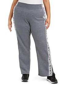 Plus Size Logo-Tape Active Jogger Pants