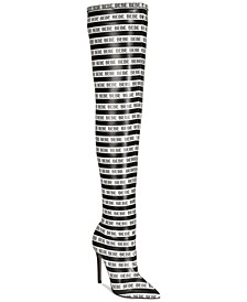 Distinct Striped Over-The-Knee Boots
