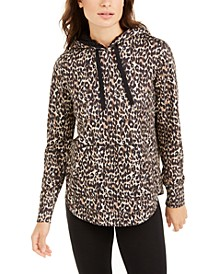 Leopard Round-Hem Hoodie, Created for Macy's