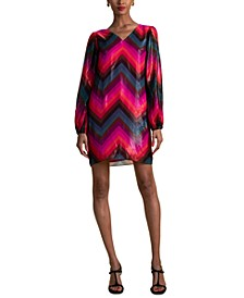 Hitachi Zigzag-Print Dress