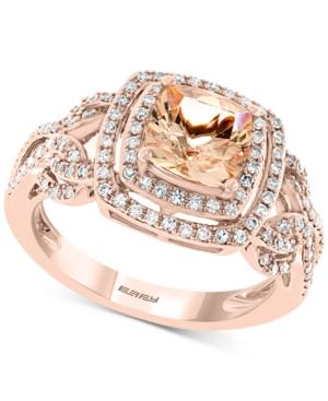 Effy Morganite (1-3/8 ct. t.w.) & Diamond (3/8 ct. t.w.) Ring in 14k Rose Gold