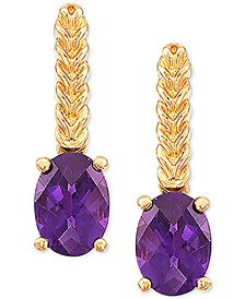Amethyst Drop Earrings (1-3/8 ct. t.w.) in 14k Gold