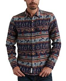 Men's Western Print Shirt