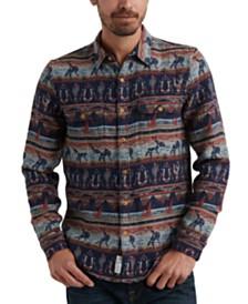 Lucky Brand Men's Western Print Shirt