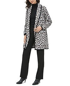 Leopard-Print Cardigan Jacket