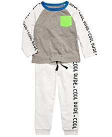 Baby Boys Cool Dude Colorblocked T-Shirt & Jogger Pants, Created For Macy's
