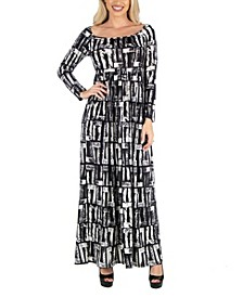 Women's Long Sleeve Maxi Dress