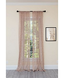 Elegant Butterfly Sheer Rod Pocket Curtain Collection