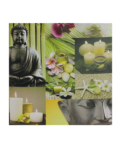 "Northlight LED Lighted Buddha Collage Canvas Wall Art, 19.75"" x 19.75"""