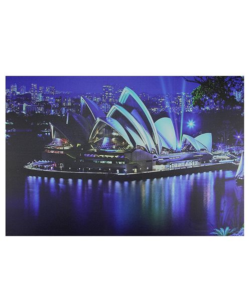 "Northlight LED Lighted Famous Sydney Opera House Australia Canvas Wall Art, 15.75"" x 23.5"""