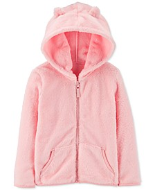 Baby Girls Velboa Faux-Fur Zip-Up Hoodie