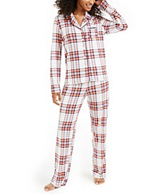 Printed Notch Collar Pajama Set