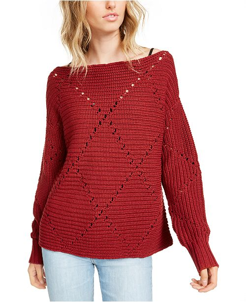 RACHEL Rachel Roy Elise Off-The-Shoulder Sweater