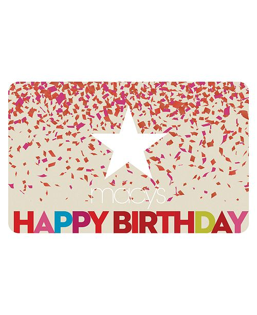 Macys Happy Birthday E Gift Card